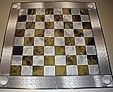 Tablero de ajedrez para la colección Marvel realizado en cartón 50x50 cms