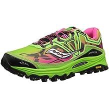 Saucony Xodus 6.0 - Zapatillas de running para mujer, color verde / rosa, Verde (Green / Pink), 37M(EU)