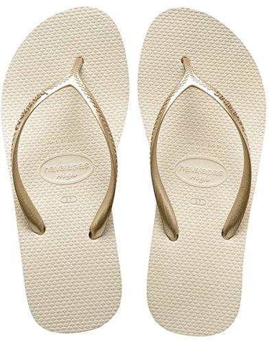44846c3eab599f Havaianas Damen Flip Flops High Fashion Grösse 39 EU (37 Brazilian) Beige  Zehentrenner für Frauen