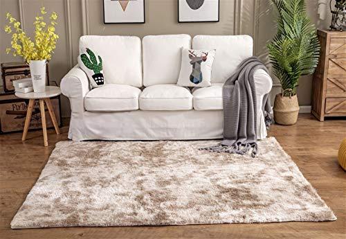 Ommda tappeto moderno salotto antiscivolo peloso pelo lungo colore home tappeti soggiorno gradiente design shaggy lavabile grigio chiaro 200x300cm