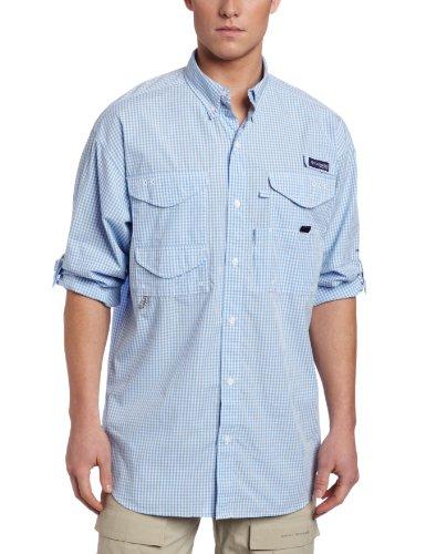 Columbia Sportswear Super Bonehead Classic Langarmshirt, Herren, White Cap, Gingham, Medium -