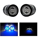 #9: AutoMT Motorcycle/Bike Handlebar/ Handle Weight Light Indicators for Royal Enfield Classic 350 - Bar End Turn Signal Grip (Black, Dual LED, Set of 2, Metal Built, RE Logo Blue Color)