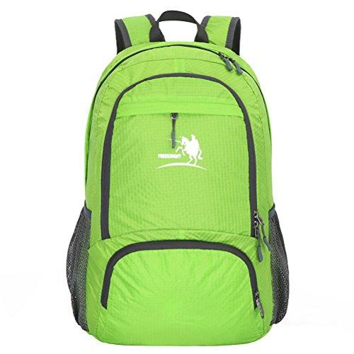Free Knight Nuovo stile Outdoor Zaino impermeabile pieghevole arrampicata, escursionismo borsa casual 35L, Black Green