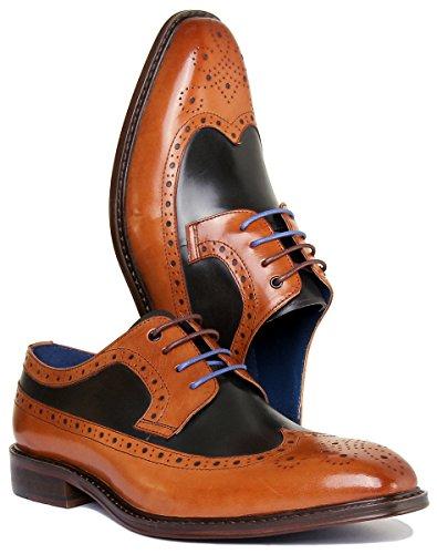 Justin Reece Alton, Brown Chaussures À Lacets Pour Hommes