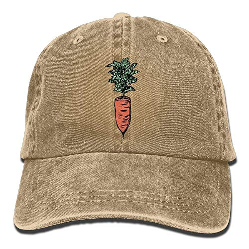 Wfispiy Men Women Classic Denim Carrot Adjustable Baseball Cap Dad Hat Low Profile Perfect for Outdoor 010619 Cooperstown Base