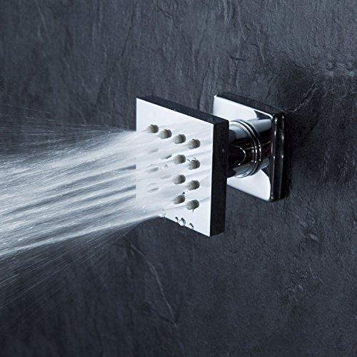 Cascada Moderne Solid Messing 16-nozzle quadratisch Body Spray Düsen Dusche, Öl eingerieben Bronze -