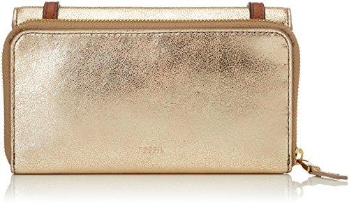 Fossil Damen Tasche Brynn-Mini Bag Geldbörse, Gold (Pale Gold Metallic), 5.1x10.2x20.3 cm (Handtasche Tasche Geldbörse Metallic)