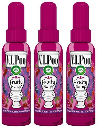 Air Wick Desodorisant Spray V.I.Poo Anti Odeur Parfum Fruity Pin Up 55 ml - Lot de 3