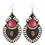 Arittra Antique Design Earring Pink Colo...