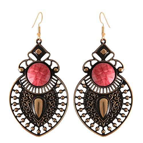 Arittra Antique Design Earring Pink Colour ethnic\traditional\tribal\ statement \party style Necklace Set for women and girls-Valentine gift,todays ... ...  available at amazon for Rs.110