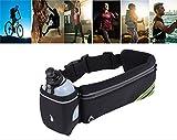 Cloud-Y Ideales【Sport Hüfttasche】 Laufgürtel Running Belt Bauchtasche Elastische Bewegung für Damen und Herren auf Sport und Outdoor Aktivitäten(Passend für Handy 4~6 Zoll) (Schwarz)