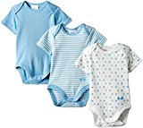 Twins - 101905, Body da bimbo, Set da 3, Blu (baby blue), 6-9 mesi