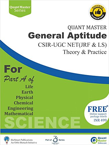 General Aptitude: CSIR - UGC NET (JRF & LS) - For Part A (Quant Master Series)  available at amazon for Rs.449