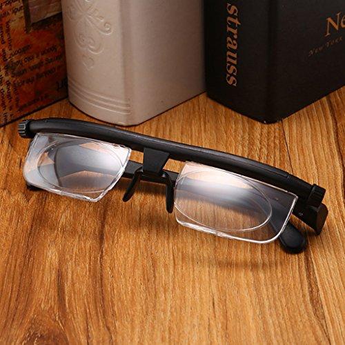 ECMQS Einstellbar Stärke Linse Lesen Myopie Brille Eyewear Variable Fokus Vision, Einstellbarer Fokus: -6,00 bis +3,00