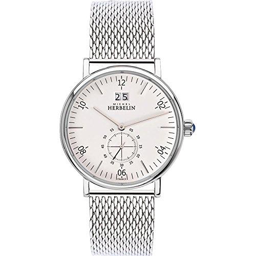 Michel Herbelin Men's Inspiration 40mm Steel Bracelet Quartz Watch 18247/11B