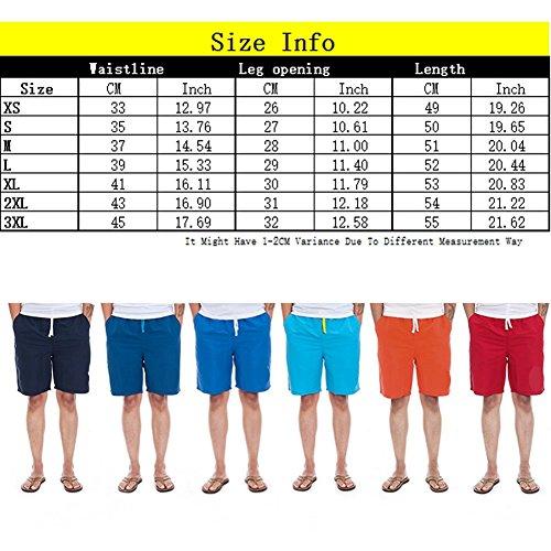 Xinmingyue Men's Casual Training Running Jogging Gym Sport Beach Surf  Shorts 86802 Navy Blue ...