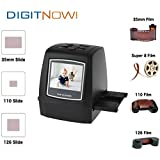 Digitnow! 22MP All-In-1 Film & Slide Scanner w/ Speed-Load Adapters for 35mm Negative & Slides, 110, 126, & Super 8 Films