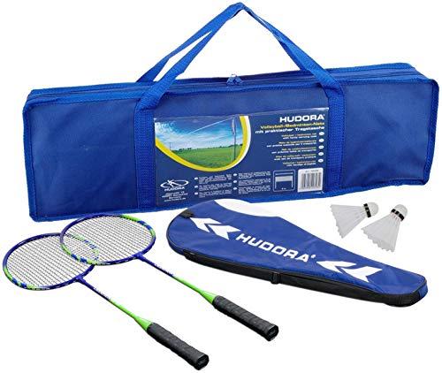 HUDORA Volleyball-Netz/Badminton-Netz - inkl. Tragetasche (+ Badmintonset)