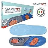 Sametex Solette Gel, Ideali per Lavoro e Sport, Solette Scarpe, Prevengono Fascite Plantare , Taglia 40/47, Confezione Regalo e Opuscolo Allegato.