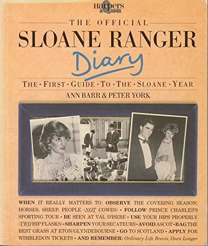 the-official-sloane-ranger-diary-the-first-guide-to-the-sloane-year-harpers-queen-by-ann-barr-illust