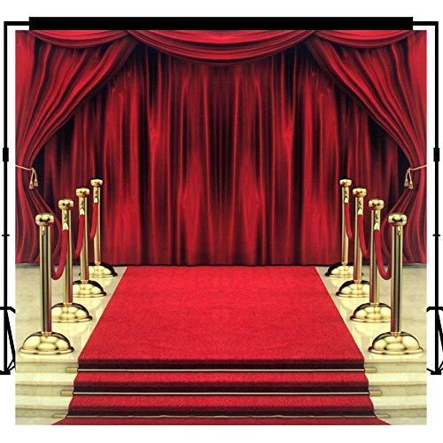 Musykrafties Fotografie Hintergrund Hintergrund Party Wand Foto Booth Requisiten 10x10ft - #1619 Musical Einstellung Bühne und Treppen