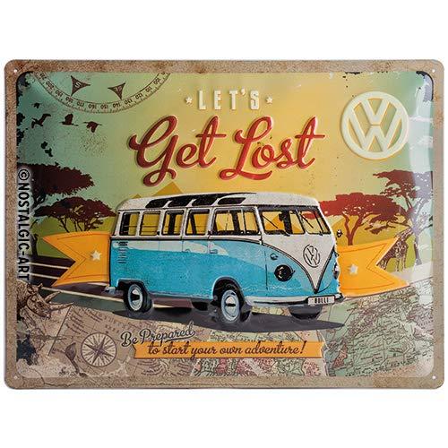 SAB VW Bulli Let's Get Lost Placa Decorativa