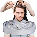 Haare Umhang, erthome Umbrella Haare schneiden Umhang Kleid Hair Salon Cape Friseur Haircut Latzschürze (Silber)