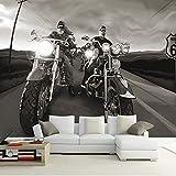 Leegt 3D Papier Peint Wallpaper Fresque Mural Custom 3D Affiche Mur De Papier De Haute Qualité Salon Canapé Chambre Toile De Peintures Murales Wallpaper Pilote Moto 200cmX150cm