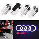 Ricoy For A1 A3 A4 A5 A6 A8 Q7 TT R8 LED Logo Light Shadow Projector Car Door Courtesy Laser No Circle (Pack of 4)