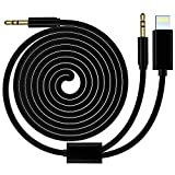 AUX Kabel kompatibel für iPhone XS Max, HUIRID iPhone 8 7 Auto AUX Kabel Dual 3,5 mm iPhone Audio AUX Adapter kompatibel mit iPhone, iPad, iPod, Android Phone