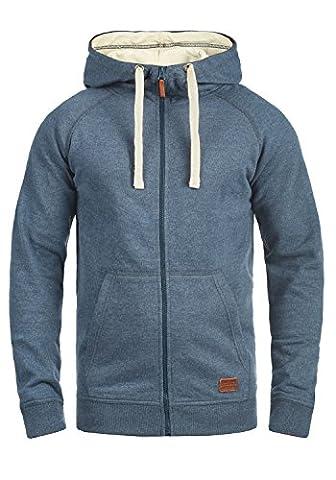 BLEND Speedy - Sweat à capuche zippé- Homme, taille:L;couleur:Ensign Blue (70260)