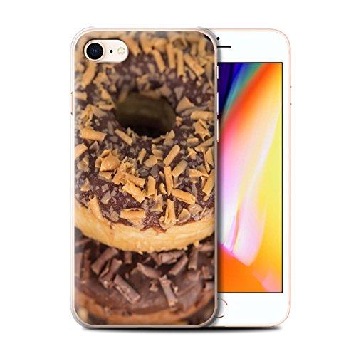 Stuff4 Hülle / Case für Apple iPhone 8 / Marmelade Muster / Schmackhafte Donuts Kollektion Toffee