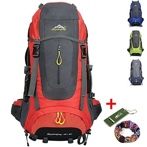 Ticktock Ong 70L Travel Backpack Grande randonnée pédestre Alpinisme Ruck Sack Water Resistang Sac de bagage pour les voyages en plein air Escalade Ca...