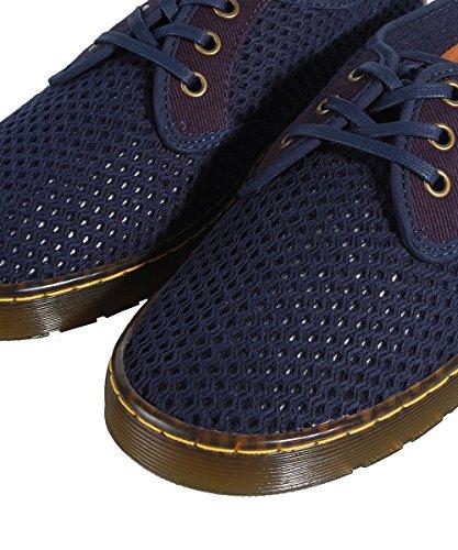 Dr Martens Roxon Dark Blue Shoes Chaussures Traforate Bleu Bleu Marine