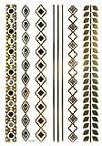SPESTYLE nuovo design vendita calda d' Oro Gold & Silver & Black Metallic adesivi di tatuaggio temporaneo design di moda di gioielli