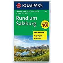 Rund um Salzburg: Wanderkarten-Set mit Radrouten, Skitouren und Naturführer. GPS-genau. 1:50000 (KOMPASS-Wanderkarten, Band 291)