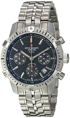 Revue Thommen Men's 16055-6134 Airspeed XLarge Commander Analog Display Swiss Automatic Silver Watch