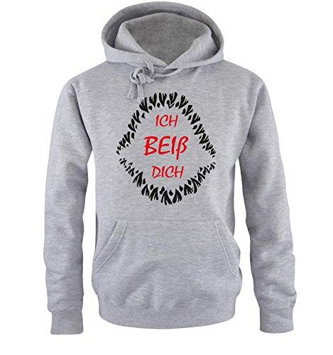 Comedy Shirts – ICH BEIß Dich – Herren Hoodie – Gr. S-XXL Versch. Farben
