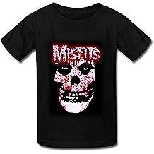 Meentre Kinder Misfits Schädel Blutige Logo-runde Kragen-T-Shirt X-Large