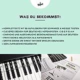 Klavier + Keyboard Noten-Aufkleber für 49   61   76   88 Tasten + Gratis Ebook   Premium Piano Sticker Komplettsatz für schwarze + weisse Tasten   C-D-E-F-G-A-H   einfache Anleitung auf Deutsch - 6