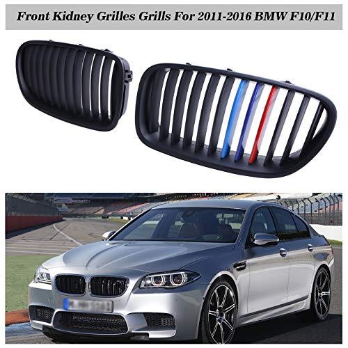 Youmi Parrilla Delantera para BMW F10/F11 Sedan Touring 520d 530d 528i 535i 2010-2014 (Negro Mate + Color M)