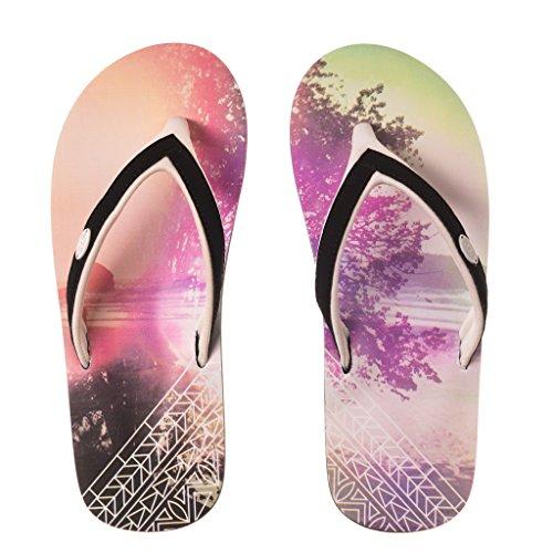 Animal Swish Slim AOP Women's Flip Flops - Multi-coloured-UK 5