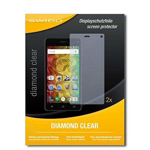 SWIDO 2 x Bildschirmschutzfolie Medion Life E5001 Schutzfolie Folie DiamondClear unsichtbar