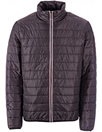 Timberland Mens Milford Jack Tim Quilted Jacket Grey- Zip - Elasticated Cuffs