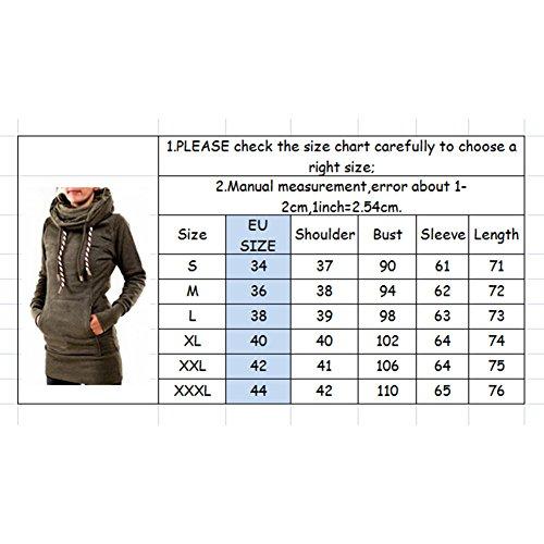 Kootk Femmes Hoodies Sweatshirts Mini Robe Hiver Chaud Arrêtez-vous Longue Tops Chemises Décontractée Femmes Longue Manche Tops Sauteur Outwear Sweat à capuche Robes S - 3XL Bleu