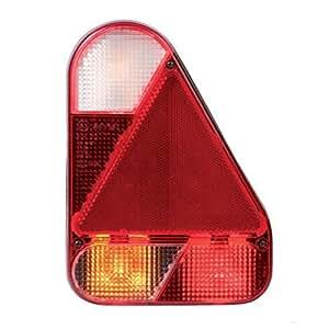 Lanterne droite verticale 6 fonctions avec feu de recule et connexions