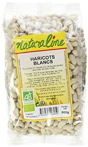 NAturaline - Moulin des Moines Haricots Blancs Bio 500 g - Lot de 5