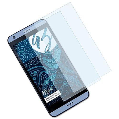 Bruni Schutzfolie für HTC Desire 530/630 Folie, glasklare Bildschirmschutzfolie (2X)