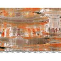 Zanderino Velour Almohadilla de plástico Soft, Mini de Cuadrados, Color Naranja, ...