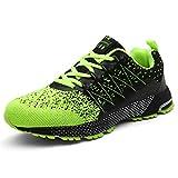 SOLLOMENSI Laufschuhe Damen Herren Sportschuhe Straßenlaufschuhe Sneaker Joggingschuhe Turnschuhe Walkingschuhe Schuhe 42 EU A Grün